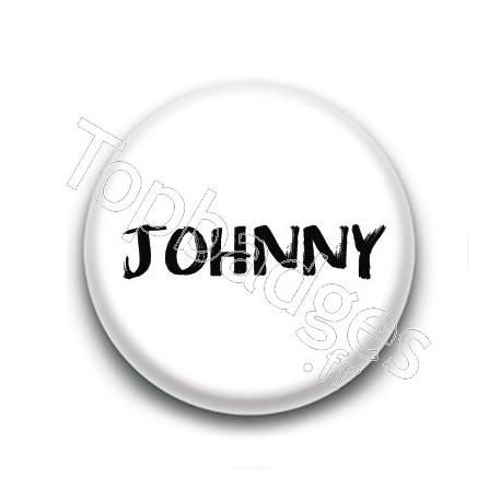 Badge : Johnny H, fond blanc 3