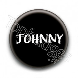 Badge : Johnny H, fond noir 3