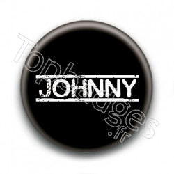 Badge : Johnny H, fond noir 4