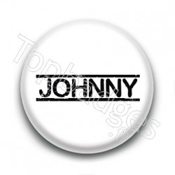 Badge : Johnny H, fond blanc 4