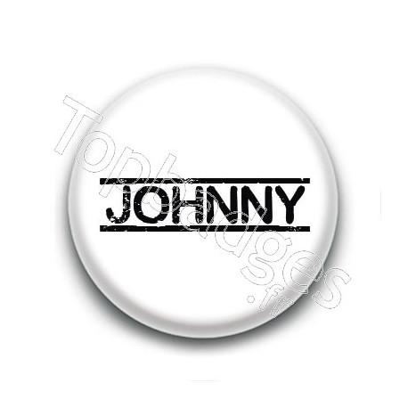 Badge : Johnny H, fond blanc 4