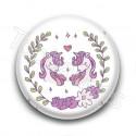 Badge Love Licornes