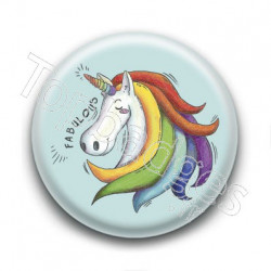 Badge Fabulous Unicorn