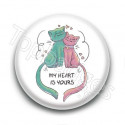 Badge My heart is yours Chats
