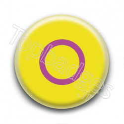 Badge Drapeau Intersex Pride