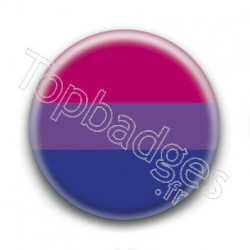 Badge Drapeau Bisexual Pride
