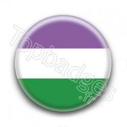 Badge Drapeau Genderqueer Pride