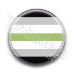 Badge Drapeau Agender