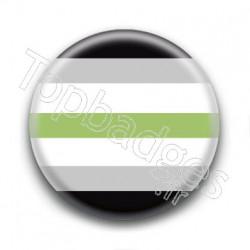 Badge Drapeau Agender