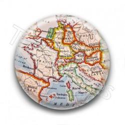 Badge vieille carte de l'Europe
