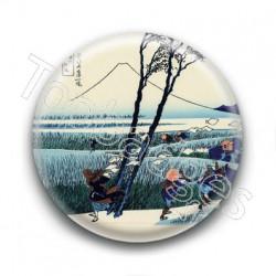 Badge : Prospecteurs, estampe japonaise