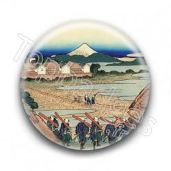 Badge : Bâtisseurs, estampe japonaise