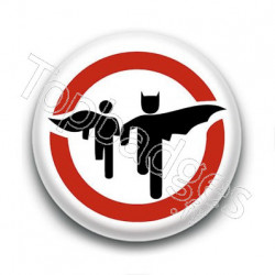 Badge Panneau Batman & Robin