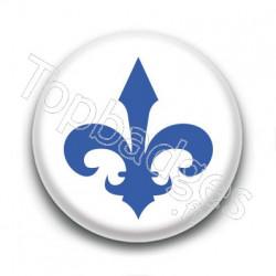 Badge Lys Bleu Québec