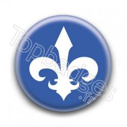 Badge Lys Blanc Québec