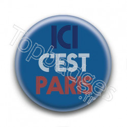 Badge Ici c'est Paris