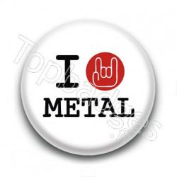 Badge I Love Metal