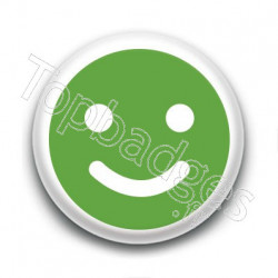 Badge : Smiley satisfait