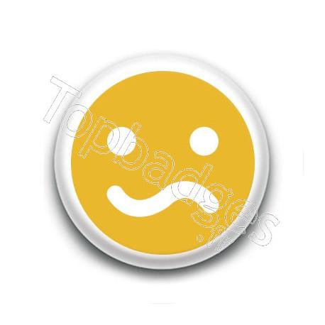 Badge : Smiley peu satisfait