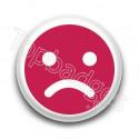 Badge : Smiley insatisfait