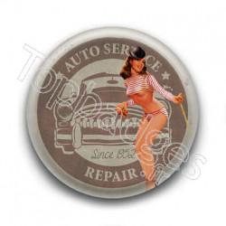 Badge Pin'up Auto-service