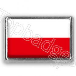 Pins chromé drapeau de Pologne