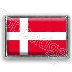 Pins chromé drapeau du Danemark