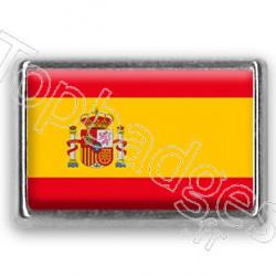 Pins chromé drapeau d'Espagne