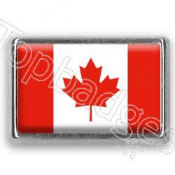 Pins rectangle : Drapeau Canada