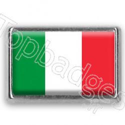 Pins chromé drapeau d'Italie