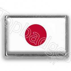 Pins chromé drapeau du Japon
