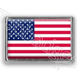 Pins chromé drapeau d'Amérique