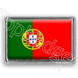 Pins chromé drapeau du Portugal