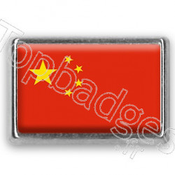 Pins chromé drapeau de Chine