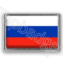 Pins chromé drapeau de Russie