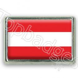 Pins rectangle : Drapeau Autriche