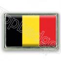 Pins rectangle : Drapeau Belgique