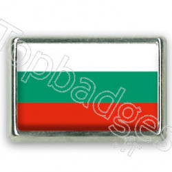 Pins rectangle : Drapeau Bulgarie