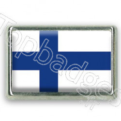 Pins rectangle : Drapeau Finlande