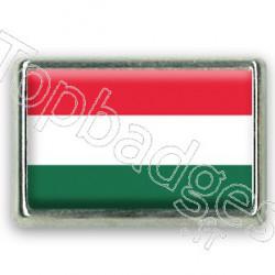 Pins chromé drapeau Hongrois