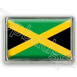 Pins chromé drapeau Jamaïcain