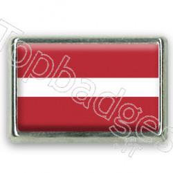 Pins chromé drapeau de Lettonie