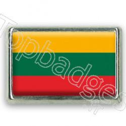 Pins chromé drapeau de Lituanie