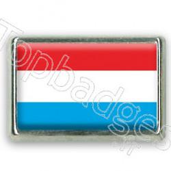 Pins chromé drapeau du Luxembourg