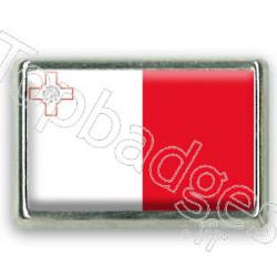 Pins chromé drapeau de Malte