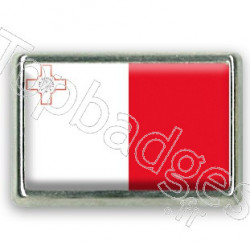Pins rectangle : Drapeau Malte