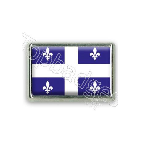 Pins chromé drapeau de Québec