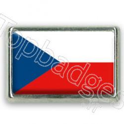 Pins chromé drapeau de République Tchèque