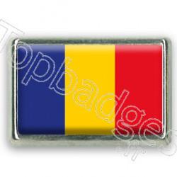 Pins chromé drapeau de Roumanie