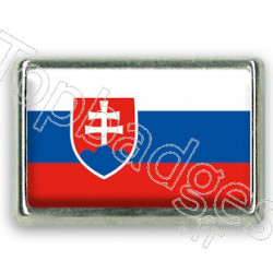 Pins chromé drapeau de Slovaquie